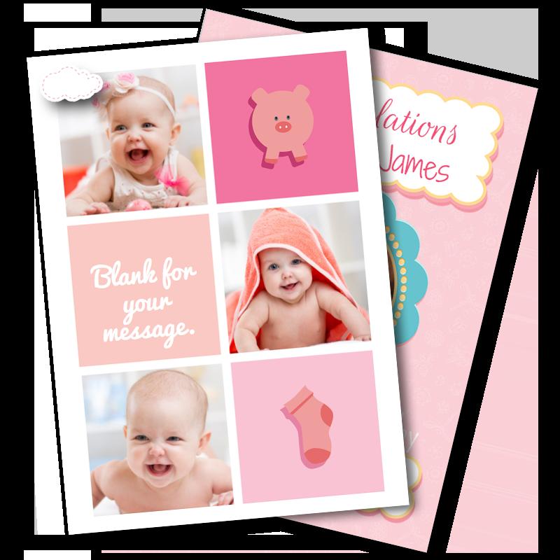 Girls Christening Cards