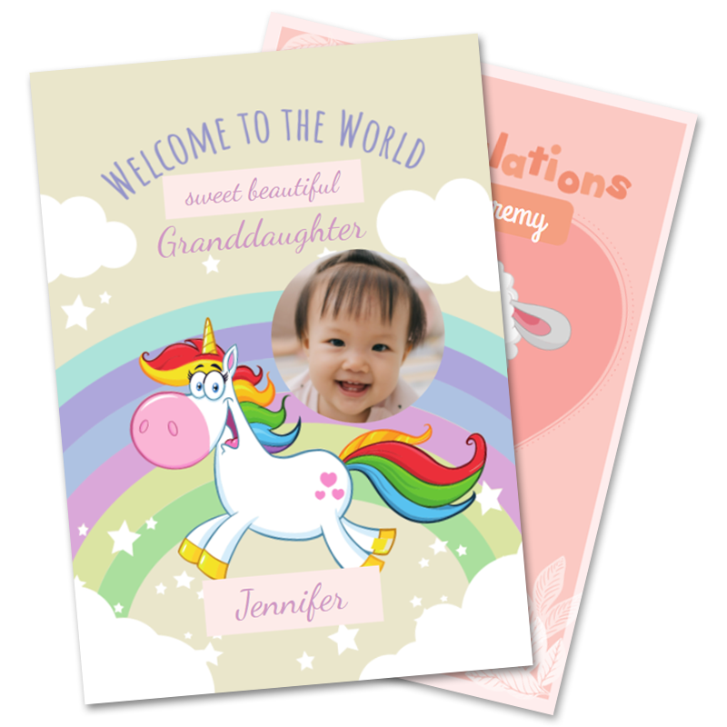 New Baby Granddaughter Cards